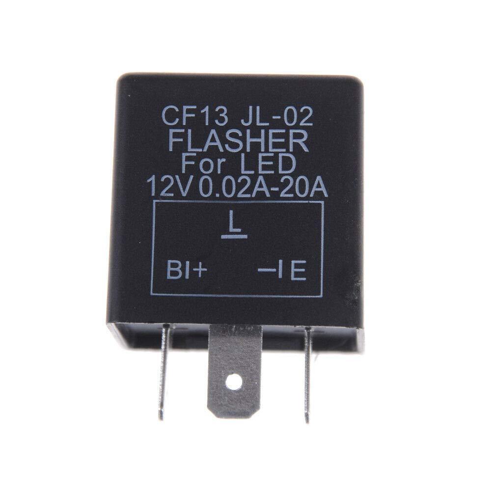 3-Pin Car Flasher Relay Fix LED Light Turn Signal Hyper Flash CF13 JL-02 qwe