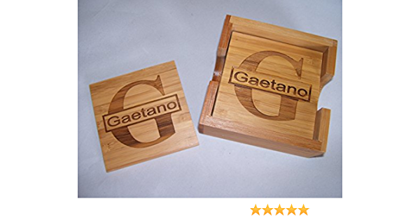 Amazon Com Personalized Laser Engraved Coaster Set For 4 Free Engraving Coasters