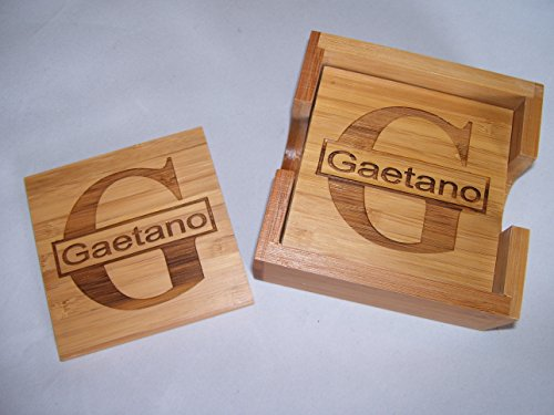 Personalized Laser Engraved Coaster Set for 4. FREE -