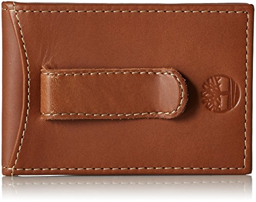 Timberland Men's Hunter Minimalist Slim Money Clip Wallet, Brown, One Size ()