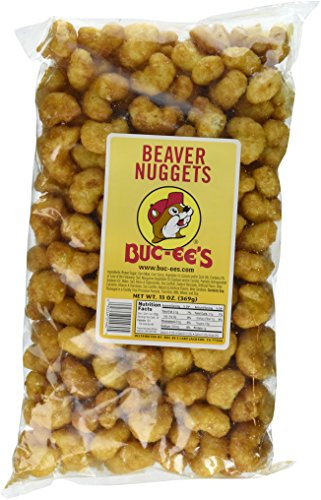 Buc-ees Beaver Nuggets Sweet Corn Puff Snacks Texas Bucees (Pack of 2 Bags) ()