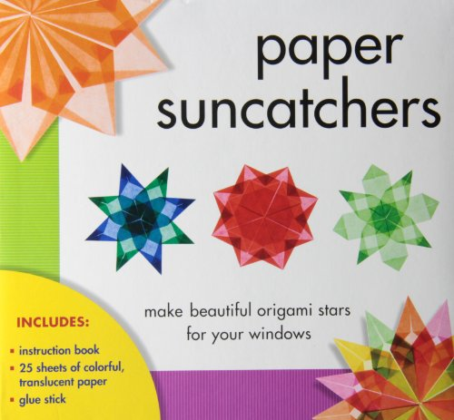 (Paper Suncatchers: Make Beautiful Origami Stars for Your Windows [With Instruction Booklet and Glue Stick and 25 Sheets of Wax-Coated, Translucent Pap by Gross-Loh, Christine (2012) Paperback)