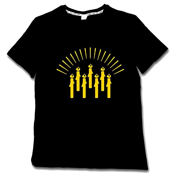 42831196260 Image Unavailable. Image not available for. Color  Customized Gifts Glow -In-The-Dark Candlelight Mens Graphic Tee Shirt