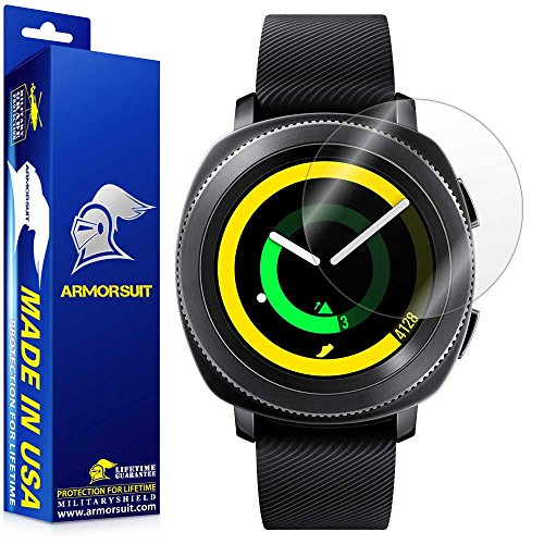 ArmorSuit Samsung Gear S2 42mm Screen Protector (2 Pack) Full Coverage MilitaryShield Screen Protector for Gear S2 42mm -HD Clear Anti-Bubble