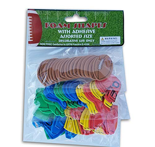 Foam Miniature Football Craft Shapes - Footballs, Helmets,