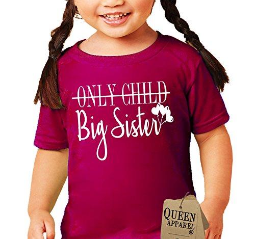 Queen Apparel Big Sister shirt-soft 100% cotton girls shirt kids (Medium)