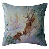 Cotton Linen Home Decorative Pgojuni Throw Pillow Case Waist Cushion Throw Pillow Case Sofa/Couch 1pc 45X45 cm (F)