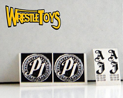 AJ Styles TATTOO DECALS FOR FIGURE Custom Wrestling Fix Up WWE TNA NJPW P1 One by New
