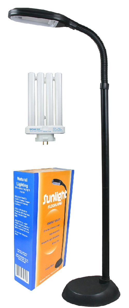 Baltoro-Power SL5729B Floor Lamp Natural Spectrum Sunlight, 10'' x 9'' x 60''