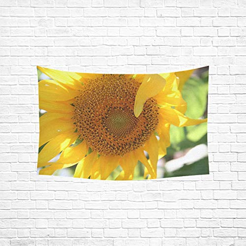 NQEONR Tapestry Sunflower Autumn Flower Sunshine Summer Harvest Tapestries Wall Hanging Flower Psychedelic Tapestry Wall Hanging Indian Dorm Decor for Living Room Bedroom 60 X 40 Inch