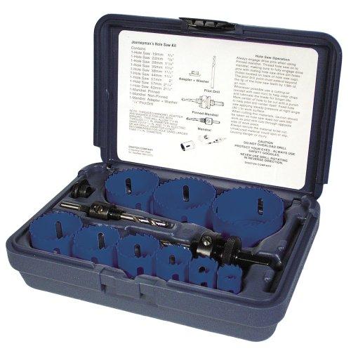 Disston E0103116 Boxed Blu-Mol Bi-Metal Hole Saw Kits, 13-Piece Journeyman's Kit