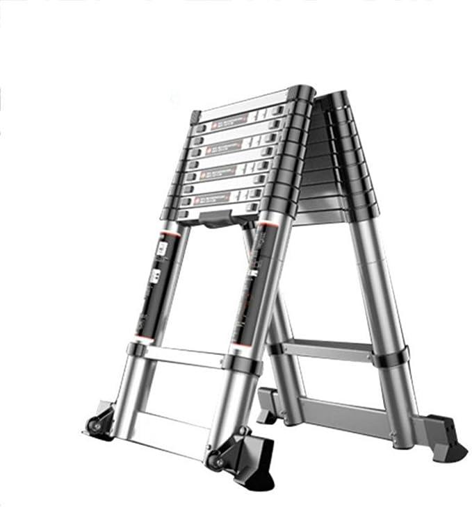 LWW Escalera, escalera de extensión, hogar plegable espiga Ladderaluminum aleación de elevación escaleras, para la familia, al aire libre, Ingeniería,Espina de pescado ladde 4.3 + 4.3m: Amazon.es: Bricolaje y herramientas
