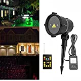 HITSAN Waterproof R&G Laser Remote LED Outdoor Projector Landscape Light for Garden Home Party Decor One Piece