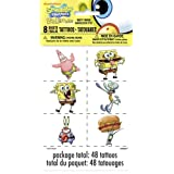 SpongeBob SquarePants Tattoos, 48ct