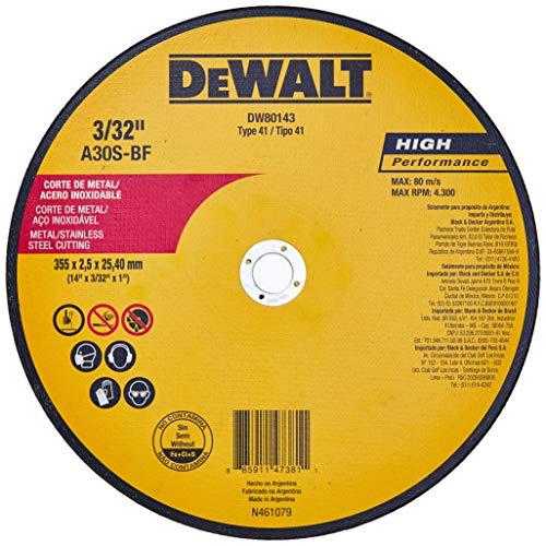 Disco Abrasivo de Corte, Dewalt, Dw80143