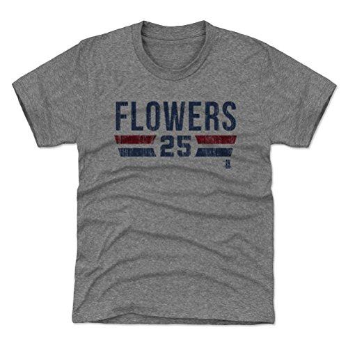 500 LEVEL Atlanta Baseball Youth Shirt - Kids Medium (8Y) Tri Gray - Tyler Flowers Atlanta Font B (Tyler Flowers)