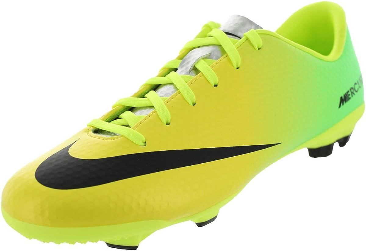 Nike Kids Jr Mercurial Veloce FG Vibrant Yellow//Black//Neo Lime Soccer Cleat 5.5 Kids US