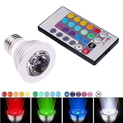 3W E27 16 Color LED RGB Magic Spot Light Bulb Lamp w/ Wireless Remote Control