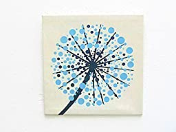Tree of life fabric wall art canvas – Aqua blue wall hanging – Embroidery Jacquard nature landscape wall decor – Modern fabric picture room by SABDECO