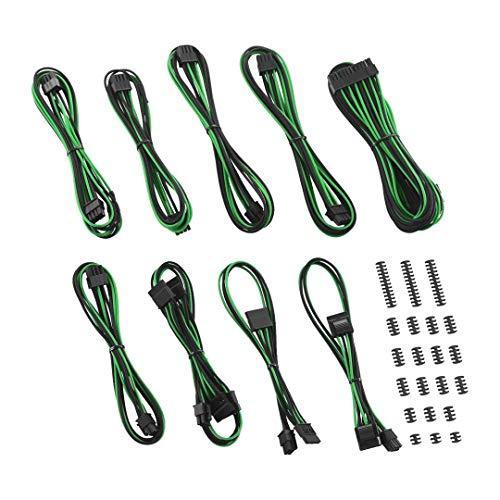 CableMod C-Series ModFlex Classic Cable Kit for Corsair RMi/RMX/RM (Black Label) - Black/Green [cm-CSR-CKIT-KKG-R]
