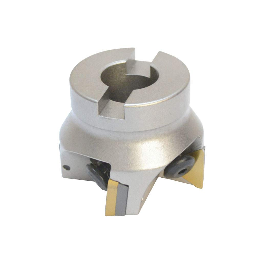 MH GLOBAL 2 x 3//4 Inch Indexable Face Mill with Carbide Shims Use TPG32 Insert 90 Degree