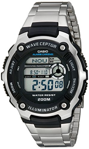 Casio Men's WV200DA-1A Multi-Task Gear Waveceptor Sports Watch (Watch Stainless Atomic Steel)