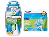 Equate 5 Blade Razor for Women, Razor with Cartridges Bundle - Compare to Venus Embrace