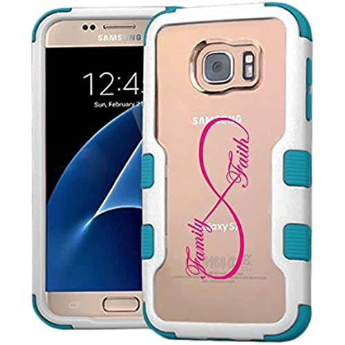 Galaxy S7 Case Infinity Love Family Faith, Extra Shock-Absorb Clear back panel + Engineered TPU bumper 3 layer Sales
