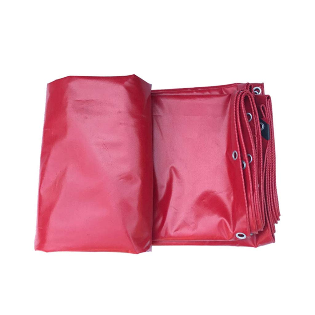 YX-Planen Mehrzweck-PVC-Planenfolie Premium-Qualitätscover Starkes Reversible Rot - 100% wasserdicht und UV-geschützt - Dicke 0,42 mm, 530 g m²