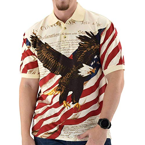 American Summer Flag Patriotic Eagle Shirt,X-Large ()