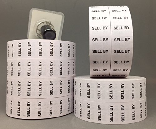 Price Labels compatible for monarch 1131 (white SELL BY)