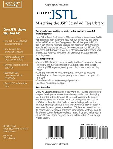 Core JSTL: Mastering the JSP Standard Tag Library: David Geary