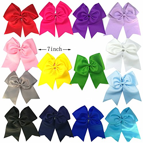 onshine-7-inch-grosgrain-hair-bows-set-ponytail-holders-for-cheerleaders-14pcs