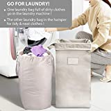 MCleanPin Large Laundry Hamper Collapsible with 2