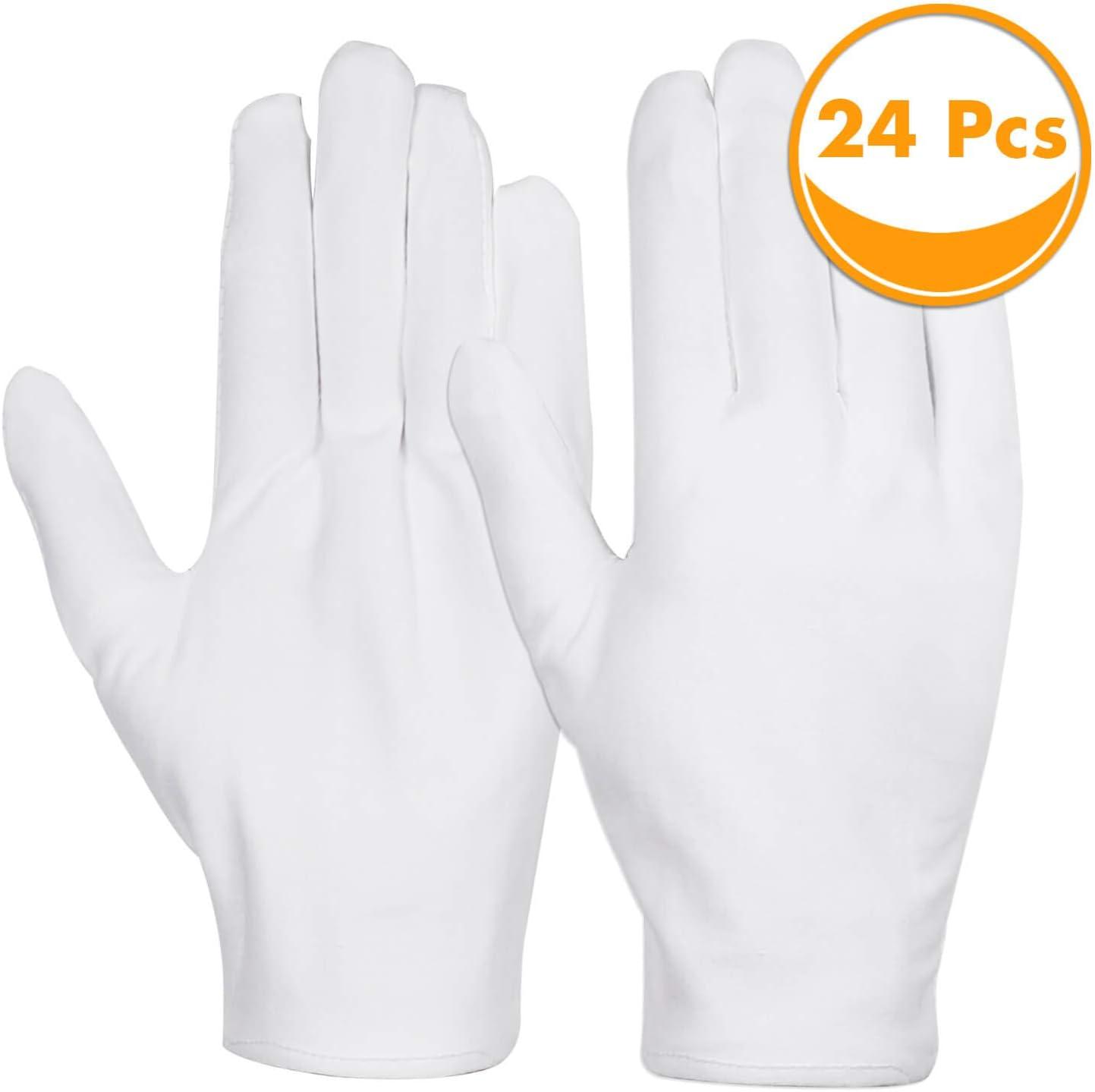 White X-Large Bx//12 pr Bulk Cotton Gloves