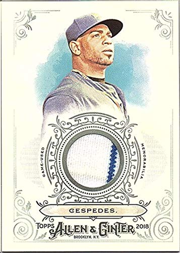 2018 Topps Allen and Ginter Relic #FSRB-YC Yoenis Cespedes MEM Mets Used Jersey Baseball Card from Topps
