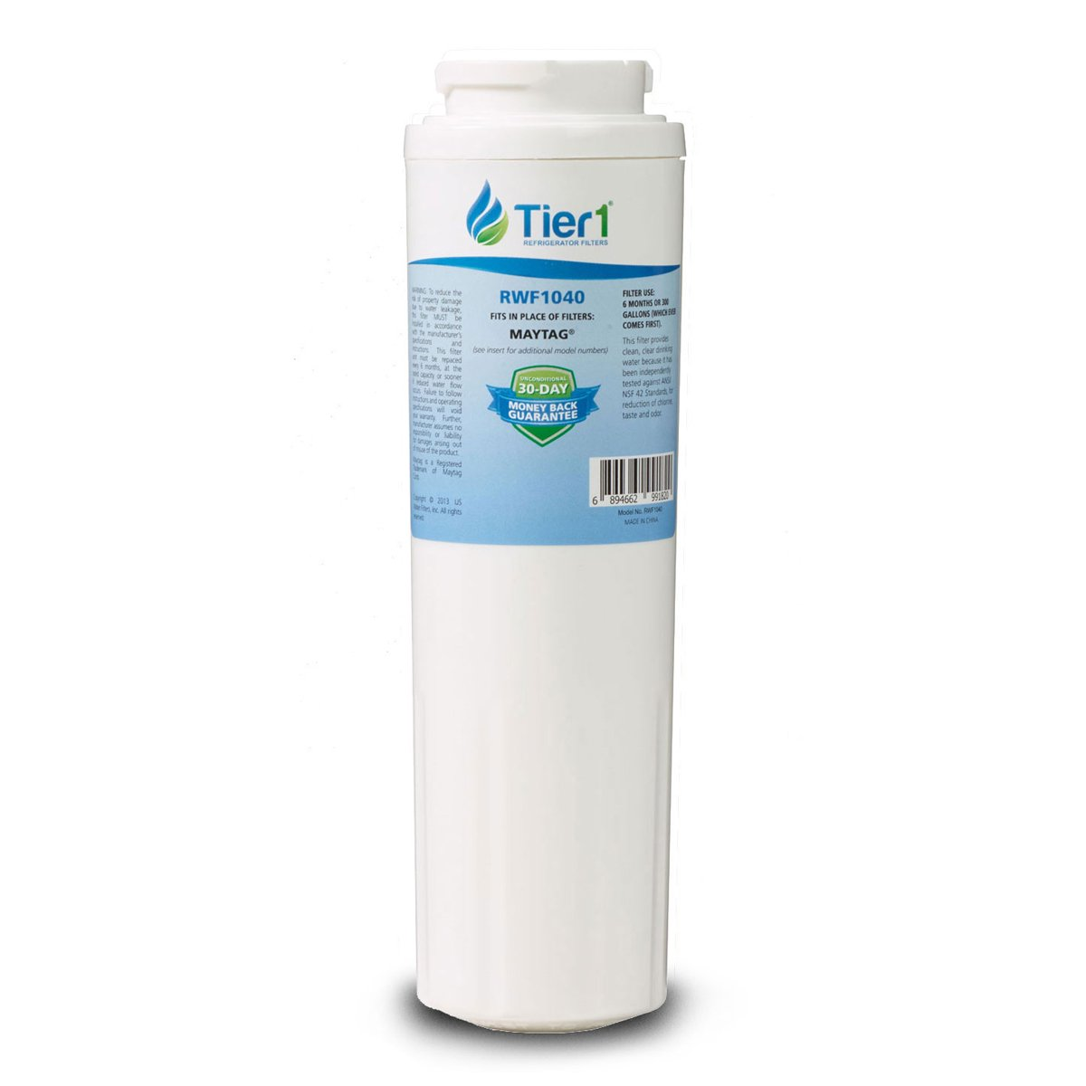 Tier1 Replacement for Maytag UKF8001, EDR4RXD1, Whirlpool 4396395, PUR, Jenn-Air, Puriclean II, 469006, 469005 Refrigerator Water Filter