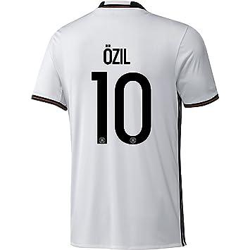 adidas DFB Alemania fútbol Camiseta Home Hombre Euro 2016 2017 Mesut Ozil  10 Color Blanco Negro  Amazon.es  Deportes y aire libre f1b57a7a36aa9