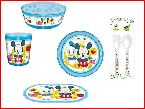 Disney Mickey Mouse baby, 0071, Vajilla infantil baby apta para ...