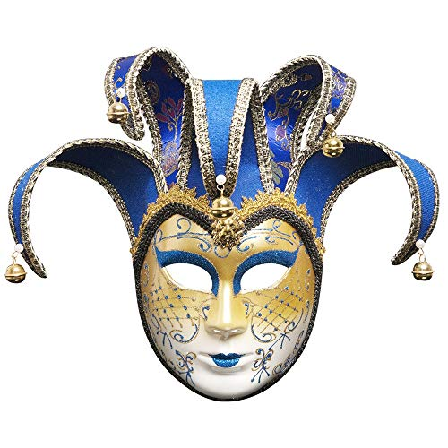 Full Face Venetian Joker Mask by Tuscom,for Masquerade
