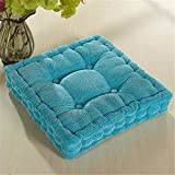 18''x18'' High Quality Square Corduroy Super Soft Polyester Cotton Chair Cushion Thickened Office Seat Cushions Mat Pad for Home Office Kitcken(Sky Blue)