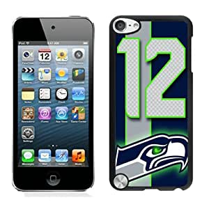Newest And Fashionable iPod Touch 5 Case Designed With Seattle Seahawks (2) Black iPod Touch 5 Screen Cover High Quality Cover Case