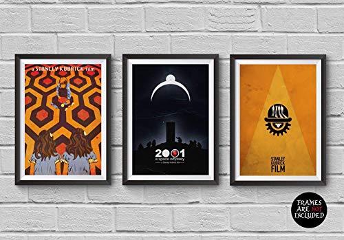 Stanley Kubrick Minimalist Poster Set of 3 Films