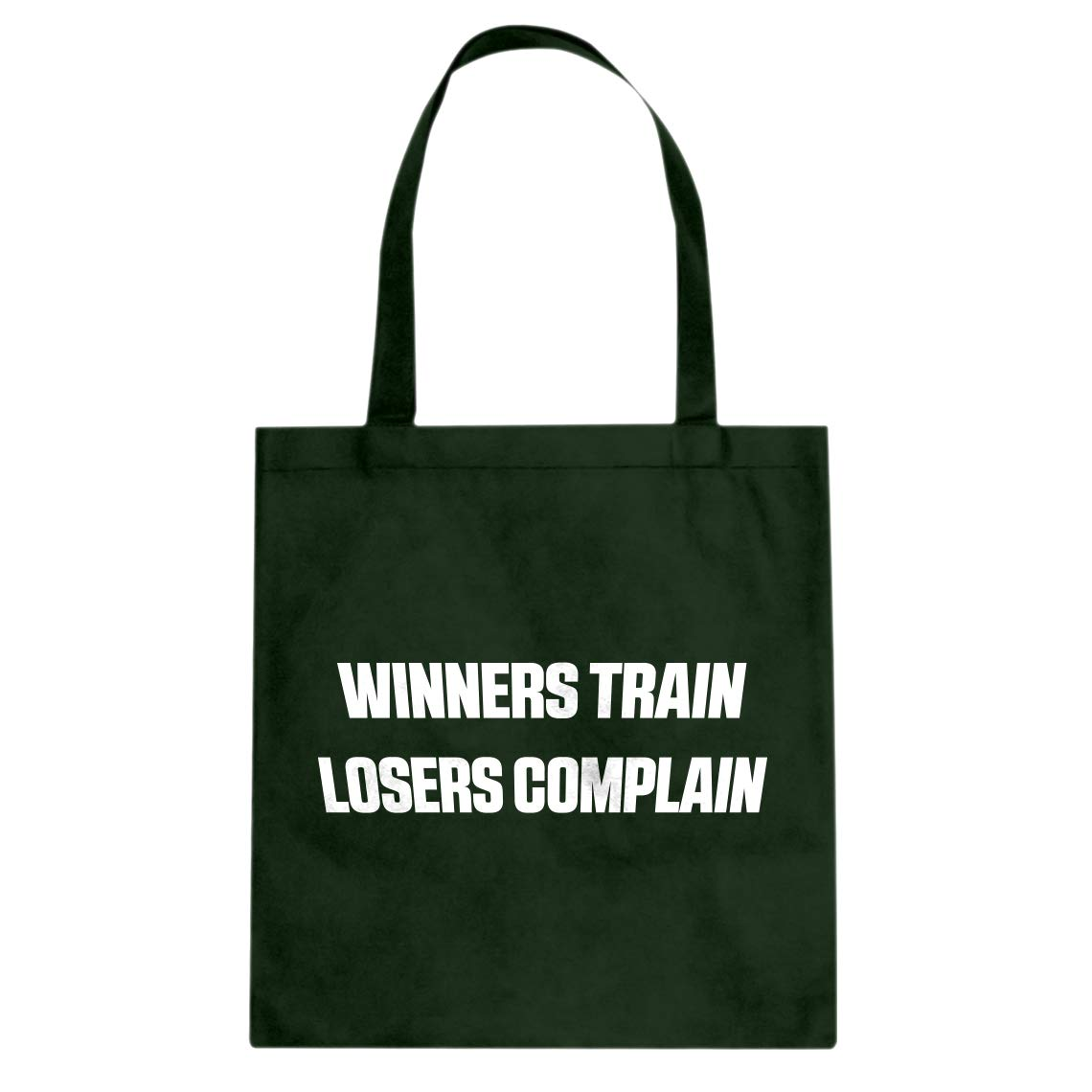Indica Plateau Winners Train Losers Complain Cotton Canvas Tote Bag