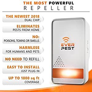 Mosquito Ultrasonic Pest Repellent 2018 - Home Control Professional Plug in Electronic Repeller (4 Pack) - Repels Ants, Fleas, Rats, Rodents, Roaches, Fruit Flies