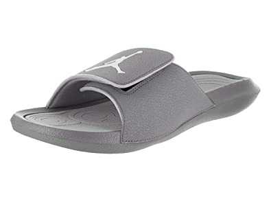 8f5ff4108 Nike Jordan Mens Hydro 6 Slide Sandals Cool Grey White-Wolf Grey 12