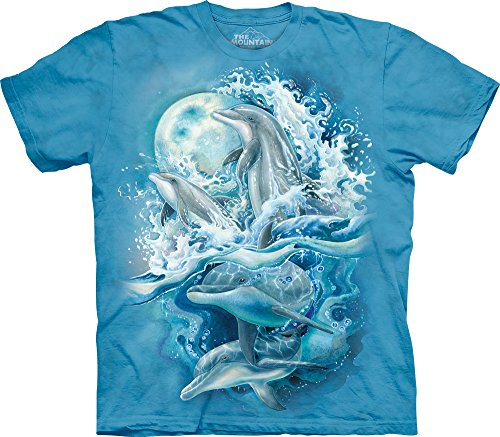 - The Mountain Bergsma Dolphins Adult T-Shirt, Blue, 2XL