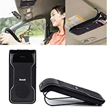 Efanr Universal Bluetooth Visor Clip Multipoint Handsfree Speakerphone Car kit - Wireless USB In-car Sunvisor Car Vehicle Speaker with Car Charger For Apple iPhone 6 Plus/6/5/5S/5C/4/4S, Samsung Galaxy S6/S5/S4/S3/S5 Mini/S4 Mini, Galaxy Note 4/3/2/Edge, LG tribute, G3/G2, optimus l70/l90/G Pro, Nokia Lumia 1020/635/520/930/1520, Lenovo S8 S898T/A850, Sony Xperia Z3/Z2/Z1/Z1 Compact, Huawei G610/Ascend Mate 7/2/P7/P6/Honor 6, Google Nexus 7/6/5, BlackBerry Z10 Smart Phones and All Bluetooth-enabled Cellphone