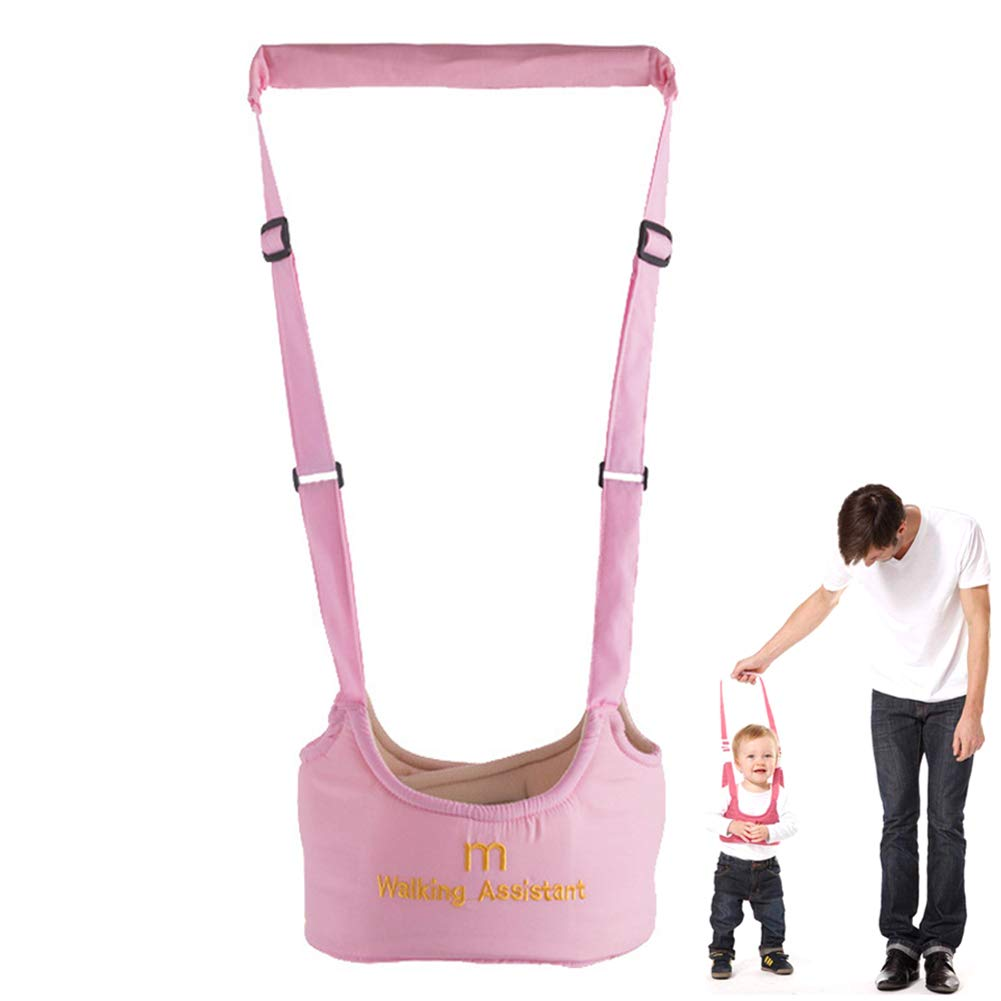 Toddler Walking Safety Harness/Child Reins/Anti-Lost Rope - First Steps Walking Learning Helper -Eholder 2 in 1 Handheld Baby Walkers for Girls from 6 Months