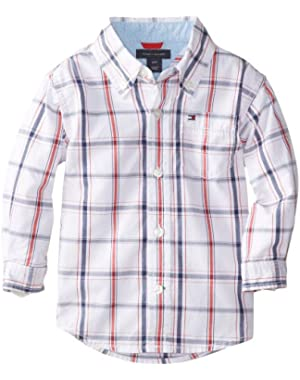 Tommy Hilfiger Baby Boys' Samuel Plaid Shirt